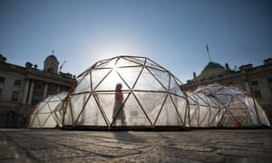 Taste the difference … Michael Pinsky's Pollution Pods at Somerset House, London.