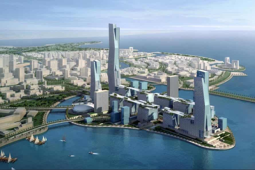 An illustration of Neom, which will be built in Saudi Arabia's Tabuk province.