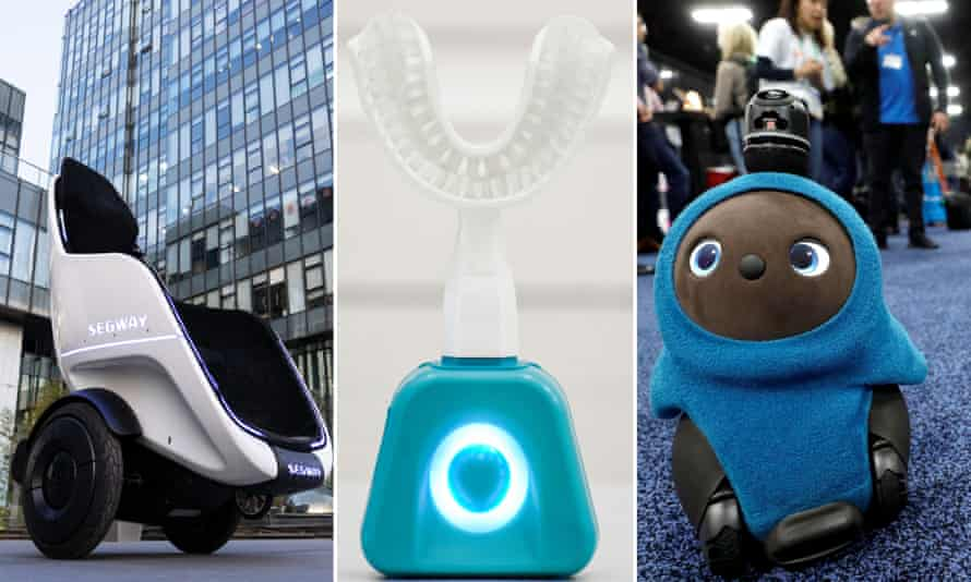 Some of the gadgets from the Consumer Electronics Show in Las Vegas, including the Segway S-Pod, Y-Brush and Lovot.