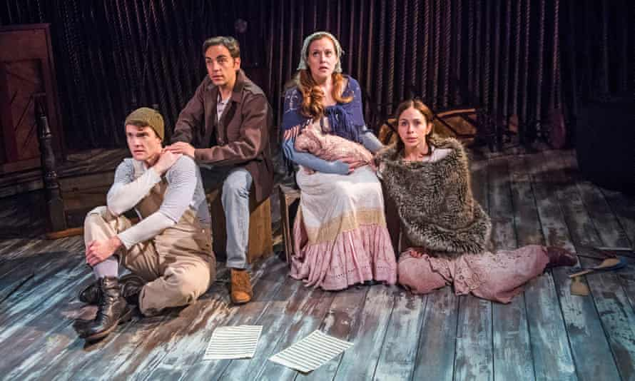 Patrick Mulryan (Jack), Ben Steinfeld (Baker), Claire Kaplan (Granny) and Emily Young (Little Red)