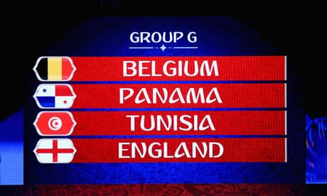 England draw Belgium, Panama and Tunisia in 2018 World Cup group