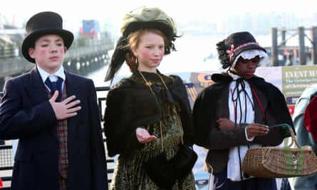 A welcome change … the Victorian festival of Christmas at Portsmouth Historic Dockyard.