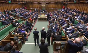 Members of parliament debate the withdrawal agreement