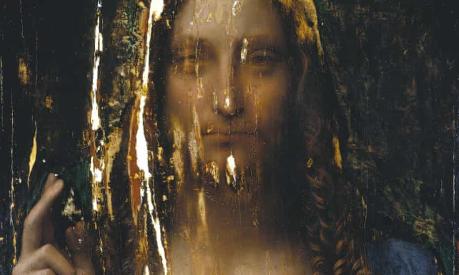 'Why not leave the painting in its raw yet beautiful state?' … a detail of Salvator Mundi after touch-ups had been removed. See the full image below.