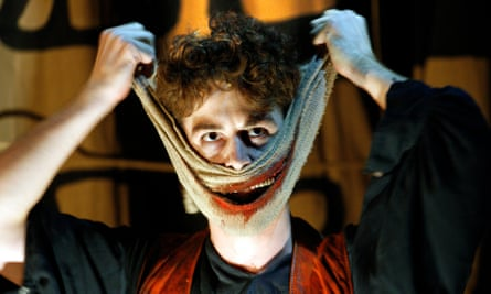 Louis Maskell as Grinpayne in The Grinning Man at Bristol Old Vic.