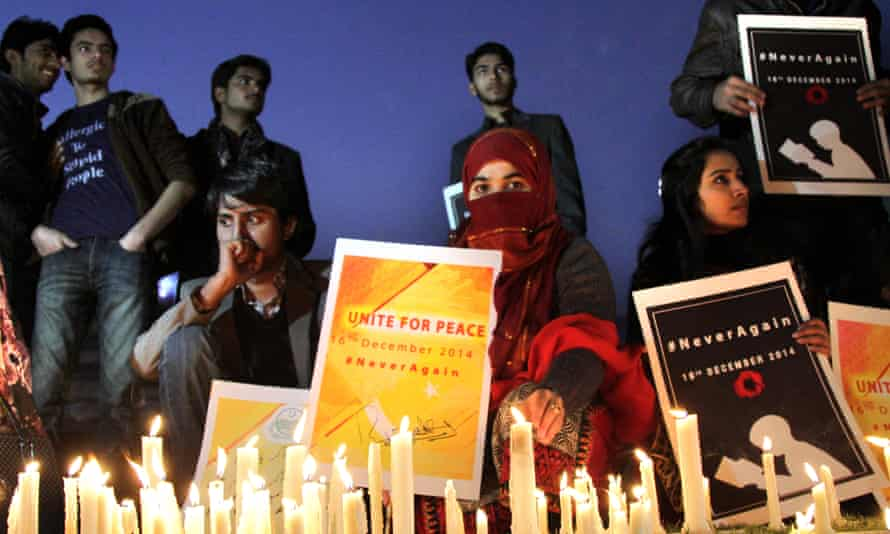 A candlelit vigil for victims of the Peshawar school attack.