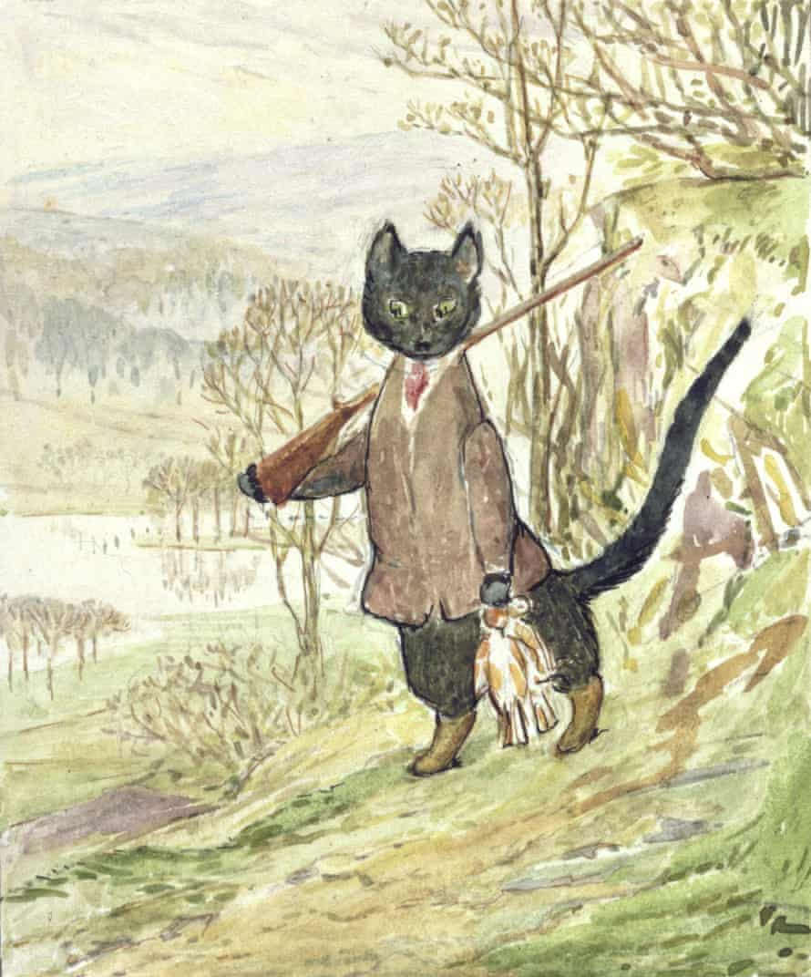 The only illustration Beatrix Potter drew of Kitty-in-Boots