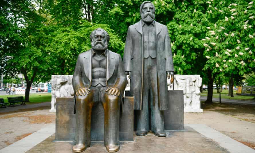 The Marx Engels monument, Karl Liebknecht Street,  Berlin.