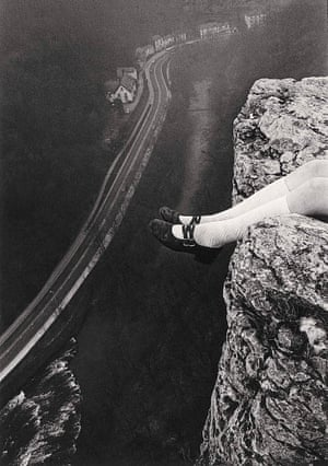 Legs over High Tor, Matlock, 1975, by Paul Hill Hill's shot of his daughter perched on a rocky outcrop in Derbyshire, explores the need to escape from the city into nature