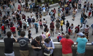 Pokémon Go players congregate in Toronto.