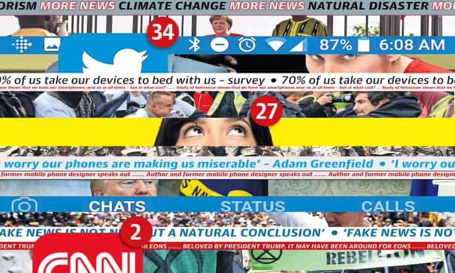News Overload composite illustration