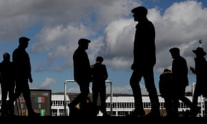 Punters arrive at the racecourse for day three of the Cheltenham Festival