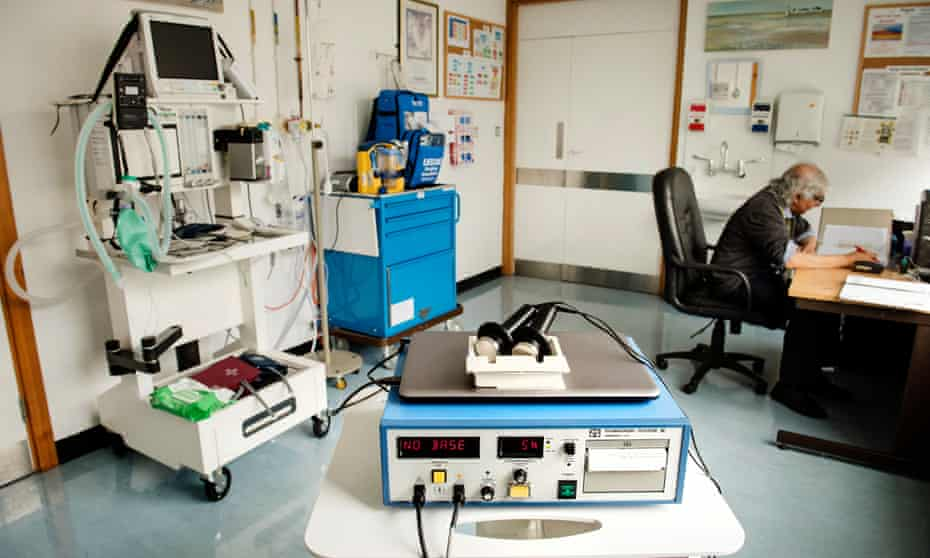 ECT equipment at Chase Farm Hospital, north London.