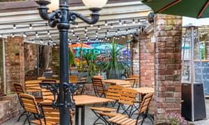 Beer garden, CityGate in Exeter