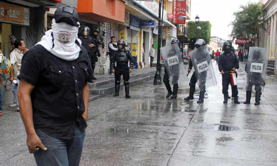 Mexico elections, protest, police