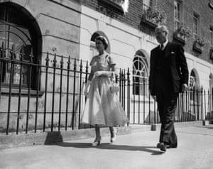 With Harold Macmillan in 1954