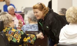 Democrat Heidi Heitkamp of North Dakota faces an uphill battle to keep her Senate seat.