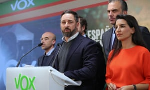 Santiago Abascal, the leader of the far-right Vox party.