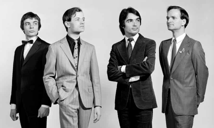 Playful, romantic, melodic … Karl Bartos, Ralf Hutter, Wolfgang Flur and Florian Schneider of Kraftwerk, circa 1975.
