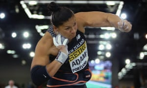 Valerie Adams competes at the world indoor championships in Portland in March