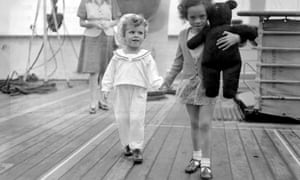 Terence and Maureen Johnson on board the Empire Windrush at Tilbury