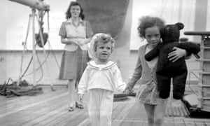 A new chapter … Windrush's young arrivals at Tilbury.