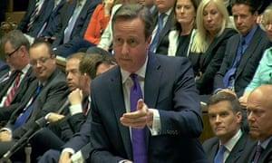David Cameron speaks during the debate on the Queen's speech.