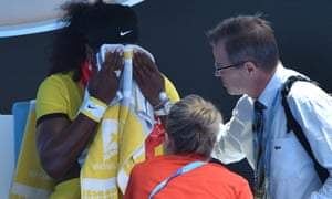 The heat can't stop Serena Williams as she tears through Maria Sharapova in the second set.