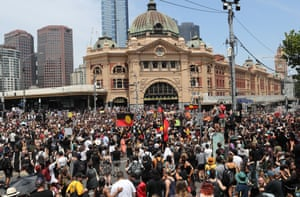 The Invasion Day march in Melbourne in January