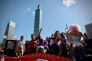 The 18th annual Pride parade in Taipei, Asia's biggest LGBTQI parade, went ahead on Saturday. Taiwan has recorded 202 consecutive days without a locally transmitted case of Covid-19.