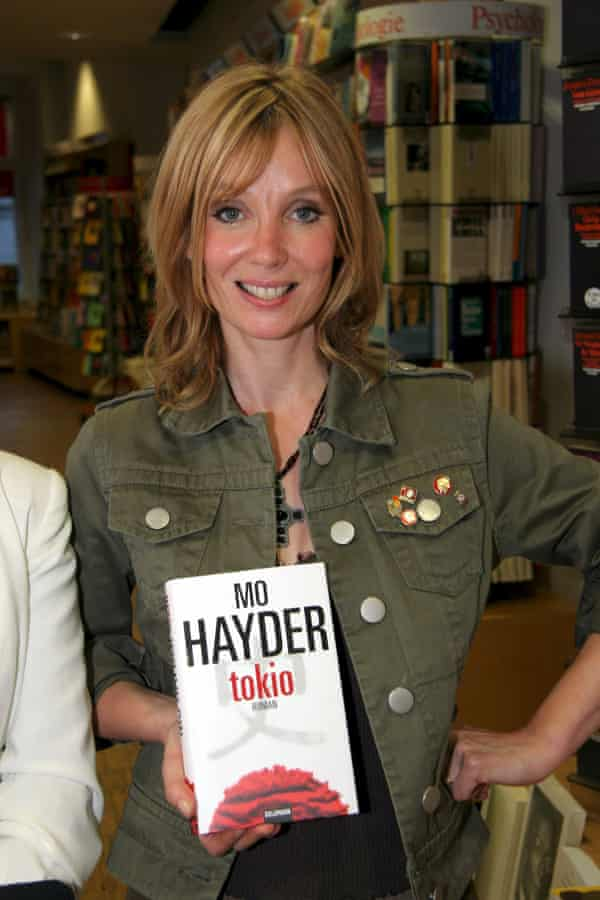 Mo Hayder at the launch of the German edition of her 2004 novel Tokyo, which many consider her masterpiece.