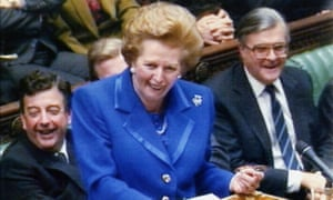 Margaret Thatcher speaking in the House of Commons in 1990