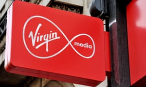 A Virgin Media sign.