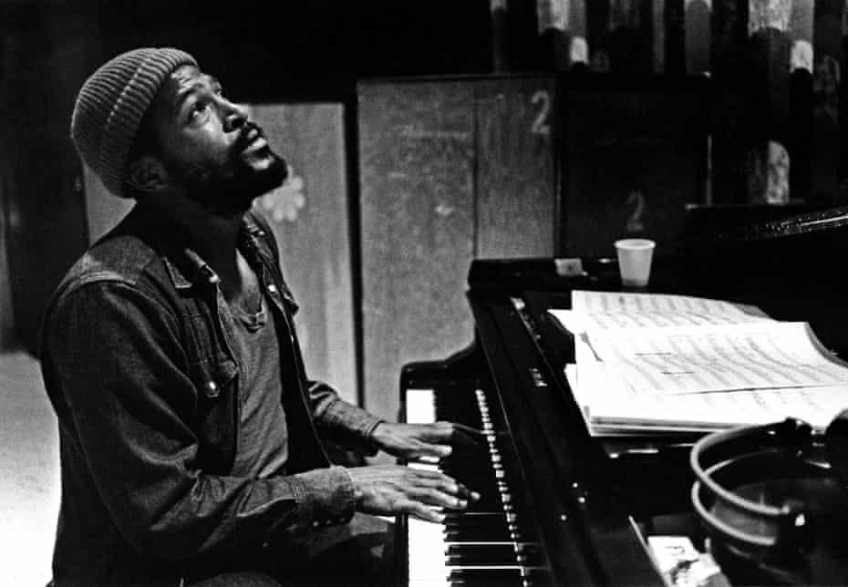 Marvin Gaye in the studio in 1973.