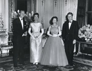 The Kennedys and the Queen met at a banquet in his honour in London in 1961