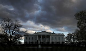 The White House at dusk on Friday, after Robert Mueller handed in his report.