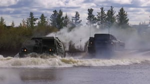 The military exercises come amid escalating tensions between Moscow and the west