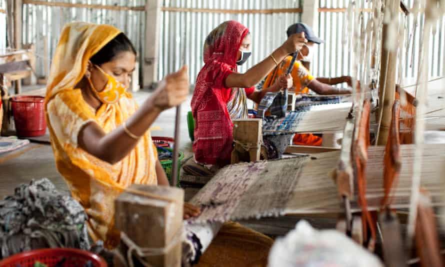 A rug factory in  Doani villlage, northern Bangladesh.