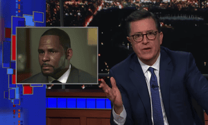 """Colbert: R Kelly's interview with Gayle King """"was a chance for Kelly to try to reassure the world that he is normal. But instead, he went with … not that."""""""