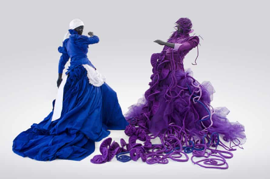 A Reversed Retrogress: Scene 1 (The Purple Shall Govern) (2013), by Mary Sibande