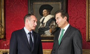 The Wallace Collection's trustee chairman, António Horta-Osório, right, with its director, Xavier Bray.