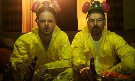 Jesse Pinkman (Aaron Paul) and Walter White (Bryan Cranston) in Breaking Bad