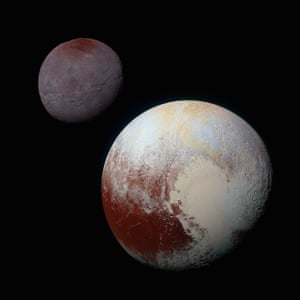 An ocean could explain why Sputnik Planitia - the left lobe of the bright heart-shaped expanse on the dwarf planet's surface - lies near Pluto's equator, facing away from Pluto's largest moon.