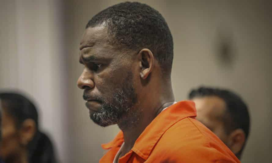 R Kelly appears in court in Chicago in 2019.