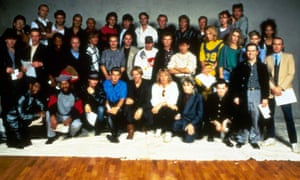 Marylin (yellow top) in the famous Band Aid photograph.