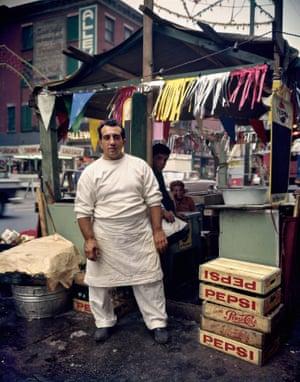 Hotdog stand, 1963, New York
