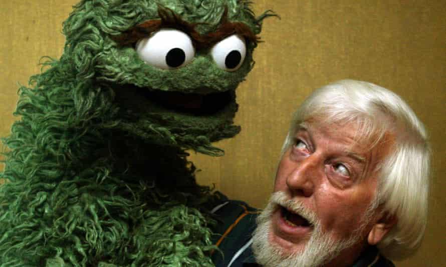 Caroll Spinney with Oscar the Grouch.