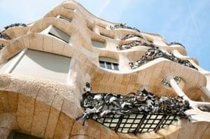 Detail of balconies at Casa Milà (La Pedrera), in Barcelona, designed by Josep Maria Jujol.