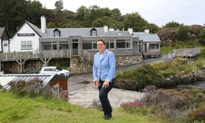 Tanja Lister who runs the Kylesku Hotel in Sutherland Scotland.