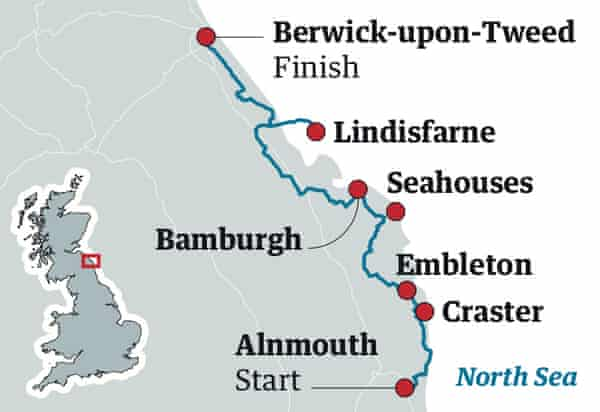 northumberland cycling route map